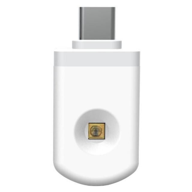 LED21 LED UV germicidní dezinfekční adaptér pro chytré telefony USB-C, bílý
